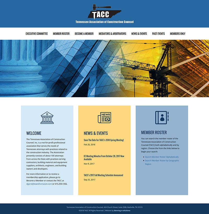 Tennessee Association of Construction Counsel, Inc. (TACC)